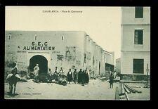Morocco CASABLANCA Place du Commerce early PPC SEC Alimentation street scene