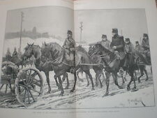 Austria army Russian front near Krakow R Caton Woodville 1888 large old print