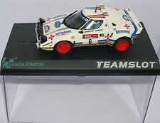 TEAM SLOT 11511 LANCIA STRATOS HF  #6  J.BRAGATION-V.SABATER  MB