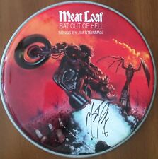 Meatloaf Singer Signed Autographed Drumhead Bat Out of Hell Edition Photo Proof