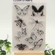 Paper DIY Rubber Stamp Transparent Clear Butterfly And Bee Craft Scrapbooking