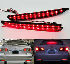 2x 24 LED Rear Bumper Reflector Black Smoked Lens Tail Brake Light for Mazda 6
