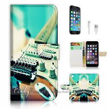 iPhone 7 PLUS (5.5') Flip Wallet Case Cover P1125 Guitar