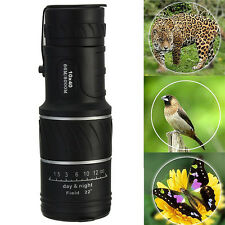 10x40 Night Vision Dual Focus Optics Zoom Lens Hunting Telescope Monocular + Bag