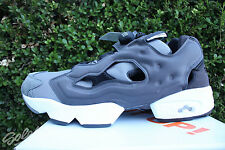 REEBOK INSTAPUMP FURY TECH SZ 11.5 BLACK DARK GHOST SOLID GREY FOGGY AR0625