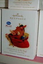 Hallmark 2009 Lion King Christmas is in the Bag Timon Pumba Movie Ornament