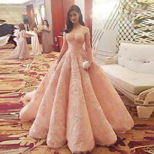 New Pink Luxury Wedding dress Bridal gown Quinceanera Pageant dress Prom dresses