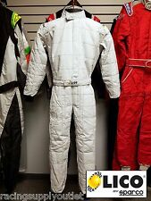 Sparco/Lico  Go Kart Racing Suit   FIA  Silver  2 Layer  Size Lrg   [In the USA]