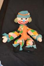 1950s Vintage CLOWN Handmade Toy Stuffed Cloth Sewing Craft Theatre Costume