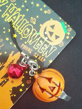Cute Pumpkin Pendant Mobile Phone Strap Flashing Charm with Bell Halloween