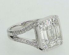 Simon G Jewelry Designer 2.5 tcw Diamond Ring in 18K White Gold - Size 5.25