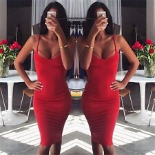 Women Sleeveless Backless Bandage Bodycon Dress Cocktail Club Party Sexy Dress