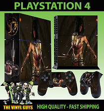 PS4 Skin Mortal Kombat X Mileena Masked Warrior Sticker + Pad decal Vinyl STOOD