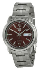Seiko 5 SNKK79 Men's Stainless Steel Brown Dial Self Winding Automatic Watch