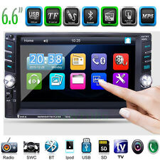 "6.6"" HD Touch Screen Double 2 DIN Car Stereo MP3 MP5 Player Bluetooth Radio USB"