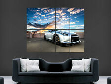 NISSAN GTR 35 SPORT CAR SILVER  HUGE LARGE WALL ART POSTER PICTURE
