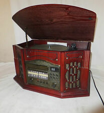 Music 8 VINTAGE Style 4 IN 1 RECORD PLAYER Cassette RADIO CD Player HIFI Unti