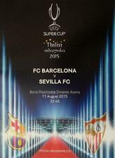 BARCELONA v SEVILLA - 2015 UEFA SUPER CUP PROGRAMME (TBILISSI  11th August 2015)