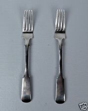Pair (2) Large Antique Imperial Russian 84 Silver Forks - Moscow 1830
