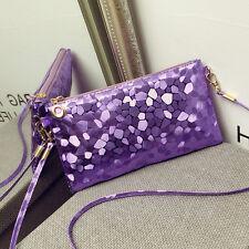 Women Glitter Sequins Handbag Party Evening Envelope Clutch Bag Wallet Purse MWU