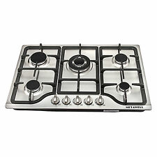 "New 30"" Stainless Steel 5 Burner Built-in Stoves Natural Gas Hob Cooktops Cooker"