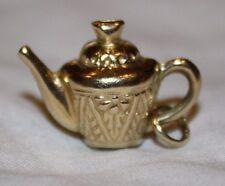 Vintage 14K Gold Tea Pot Kettle Charm - Beautiful Detail!