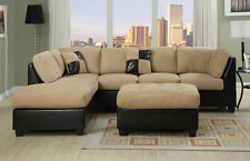 Sectional Couch Sofa Sectionals Microfiber Faux Leather Complete Set W Chaise