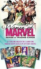 Women of Marvel 2 Box 24 Sealed Packets No Sketch see description