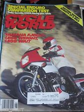 CYCLE WORLD JUNE 1984  YAMAHA HARLEY DISC GLIDE DAYTONA REPORT MAGAZINE