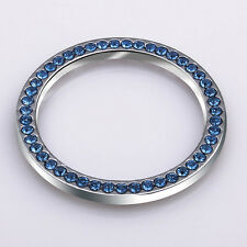 Blue Auto Car Decorative Accessories New Button Start Switch Diamond Ring SUV