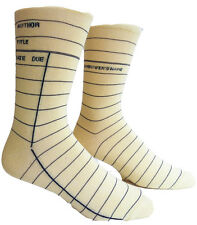 Library Card Out Of Print Authentic Adult Unisex Crew Socks - Yellow - Small