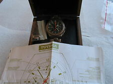 MEN'S TUTIMA MILITARY,CHRONOGRAPH,TITANIUM C&B,AUTO,24H,44 MM DIA,DAY/DATE,
