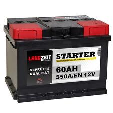 LANGZEIT Autobatterie 12V 60Ah ersetzt 44Ah 50Ah 54Ah 55Ah 56Ah 61Ah 62Ah 65Ah