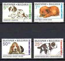Chiens Bulgarie (8) série complète de 4 timbres oblitérés