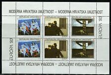 CROATIA 1993 EUROPA/ART/CONTEMPORARY PAINTINGS/DULCIC/STANCIC/IVANCIC MINI-SHEET