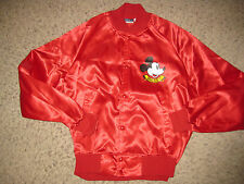 Mickey Mouse Satin Jacket M Red Disney Nasco 1980's Casual Dress Lounge Rare Md