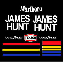 James Hunt 1976 Bell Star Helmet Sticker Kit Full Size Helmet 1.1