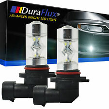 DuraFlux 6000K Xenon White H10 9145 SAMSUNG 2323 60W LED Fog Driving Light Bulbs
