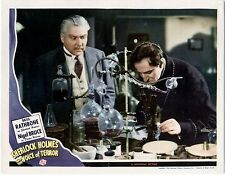 BASIL RATHBONE SHERLOCK HOLMES & THE VOICE OF TERROR , LOBBY CARD PHOTO 3  8X10