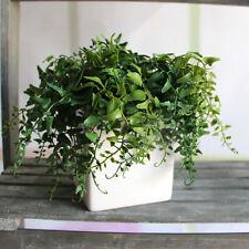 Green Melon Seeds Fern Fake Plant Artificial Foliage Home Decor Decoration