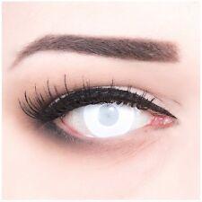 Farbige Halloween Kontaktlinsen Blind White Mentalist weiße weisse ohne Stärke