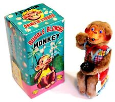 1950's Rock Valley Toy Bubble Blowing Monkey Battery Operated Toy w Original Box