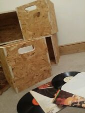 "12"" Vinyl LP Record Storage Cube Box Crate Shelf Portable Stackable  osb x2"
