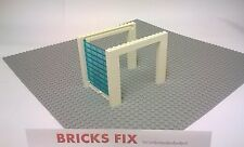 LEGO GARAGE DOOR WHITE 9 BRICKS HIGH FULL ASSEMBLY - CITY GARAGE POLICE STATION