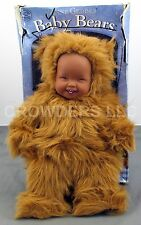 Anne Geddes Baby Bears Cuddly Baby Doll w/ Removable Costume #525503 '97 Vintage