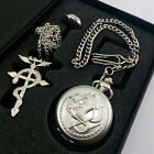 Cosplay Fullmentle Alchemist Pocket Watch + Necklace + Ring Edward Elric Anime