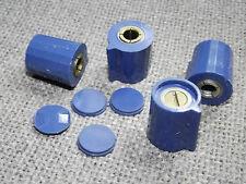 2 Stück Drehknopf für 6 mm Achse, blau, mit Zeiger, Zentralbefestigung