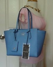 NWT AUTHENTIC GUCCI SMALL SWING LIGHT BLUE LEATHER TOTE SHOPPER BAG RETAIL $1100