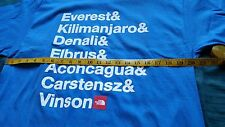 North face men's shirt blue size medium mountain Everest & Kilimanjaro & Denali