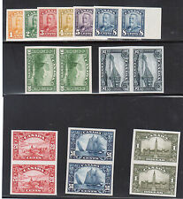 Canada #149P - #159P XF Proof Set In Pairs On India Paper